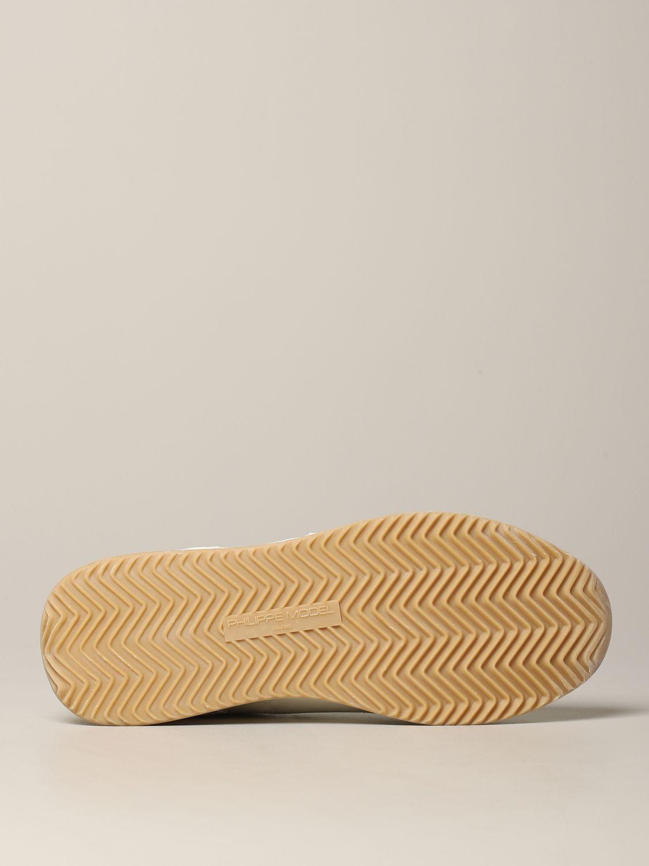 Baskets Tropez Philippe Model en daim et nylon blanc 6