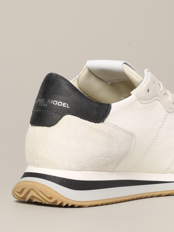 Philippe Model Tropez Sneakers aus Wildleder und Nylon weiß 5