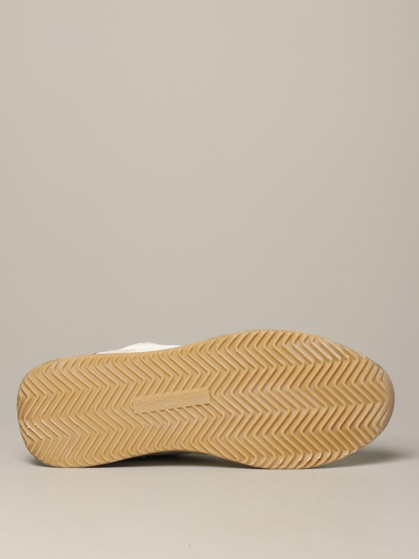 Philippe Model Tropez Sneakers aus Wildleder und Nylon weiß 6