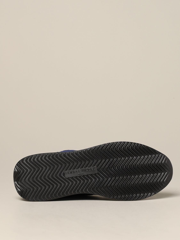 Baskets Tropez Philippe Model en daim et nylon bleu 6