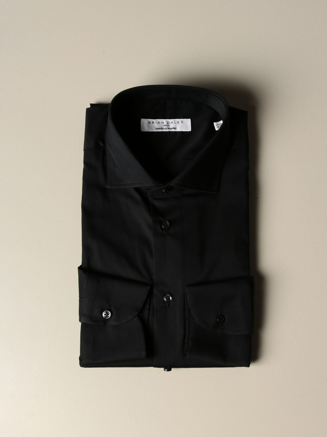 Shirt Brian Dales Camicie: Brian Dales Camicie tailored shirt in stretch satin black 1