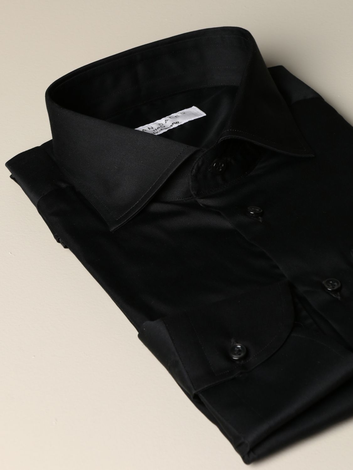 Shirt Brian Dales Camicie: Brian Dales Camicie tailored shirt in stretch satin black 2