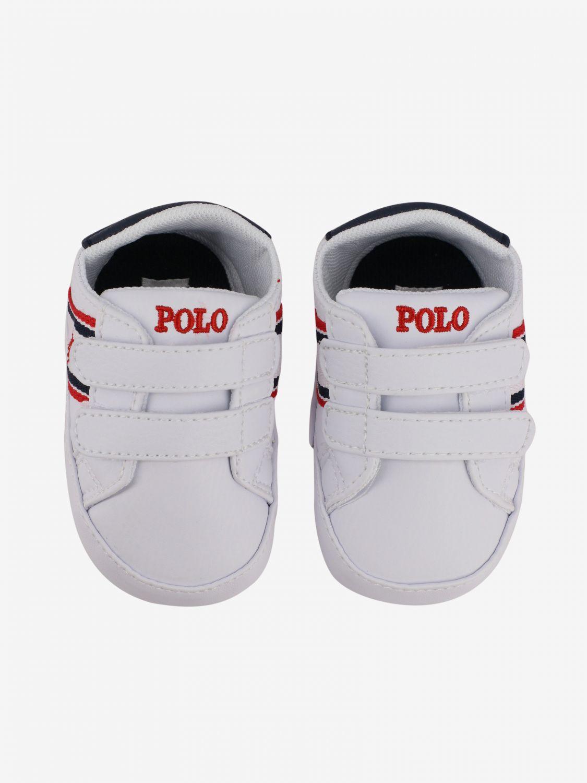 Polo Ralph Lauren Oaklynn ez 真皮运动鞋 白色 3