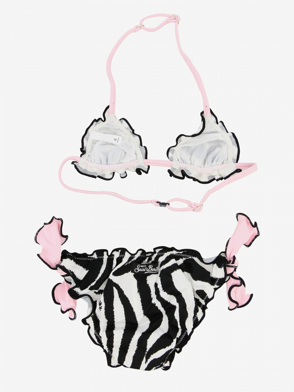 Mc2 Saint Barth 动物纹印花泳装 黑色 2
