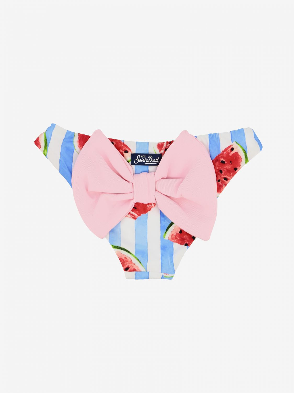 MC2 Saint Barth swimsuit with watermelon print gnawed blue 2