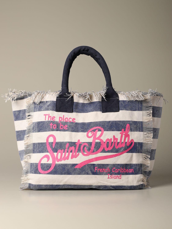 Shoulder bag women Mc2 Saint Barth blue 1