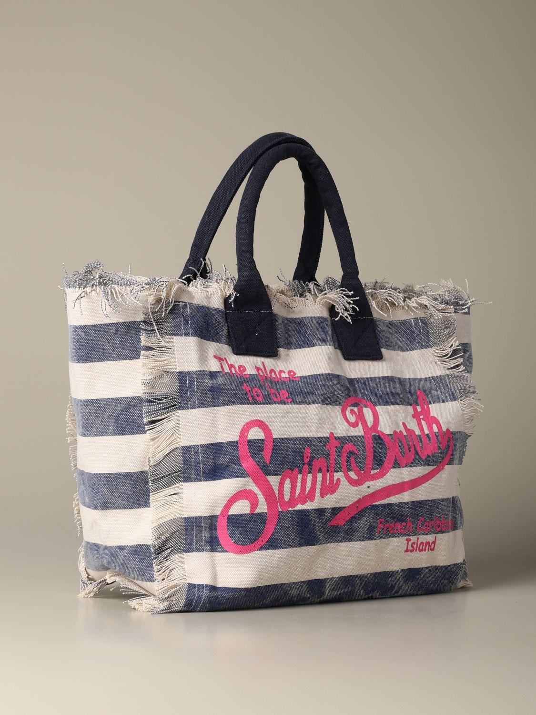 Shoulder bag women Mc2 Saint Barth blue 2