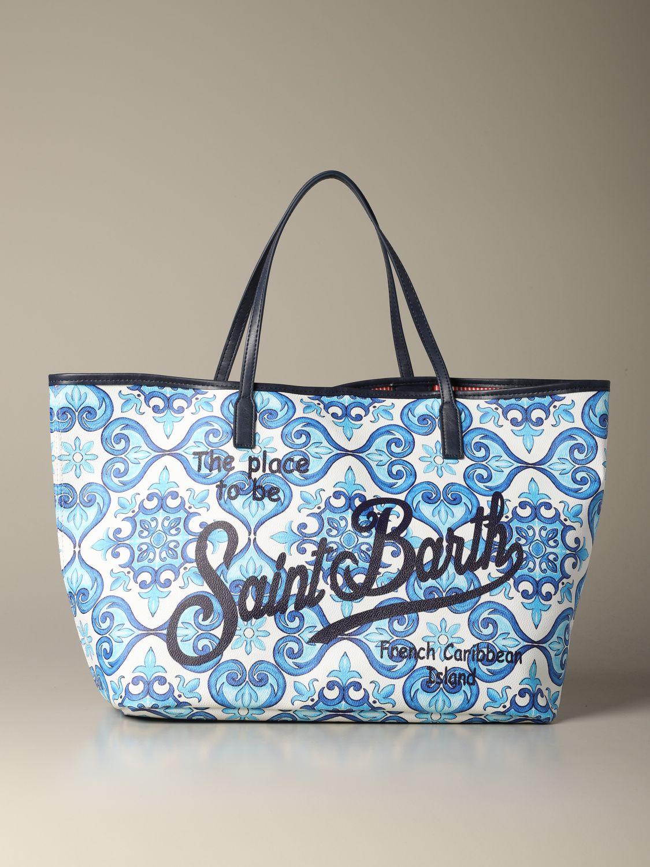 Shoulder bag women Mc2 Saint Barth gnawed blue 1