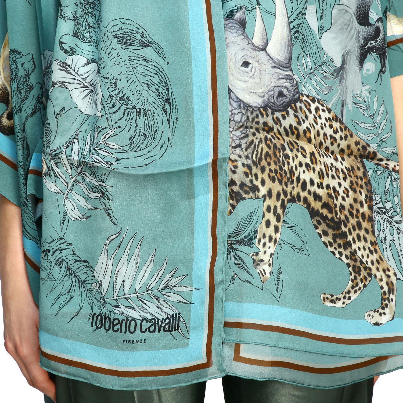 Foulard Roberto Cavalli in seta con stampa hibryd animals verde 3