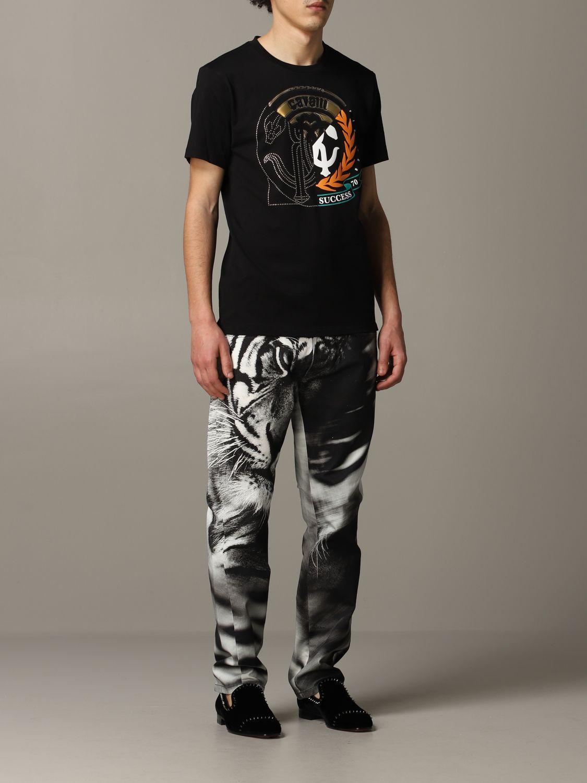 T-shirt Roberto Cavalli a maniche corte con logo nero 2