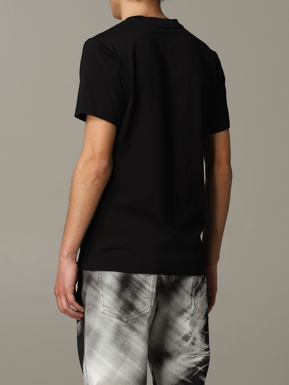 T-shirt Roberto Cavalli a maniche corte con logo nero 3
