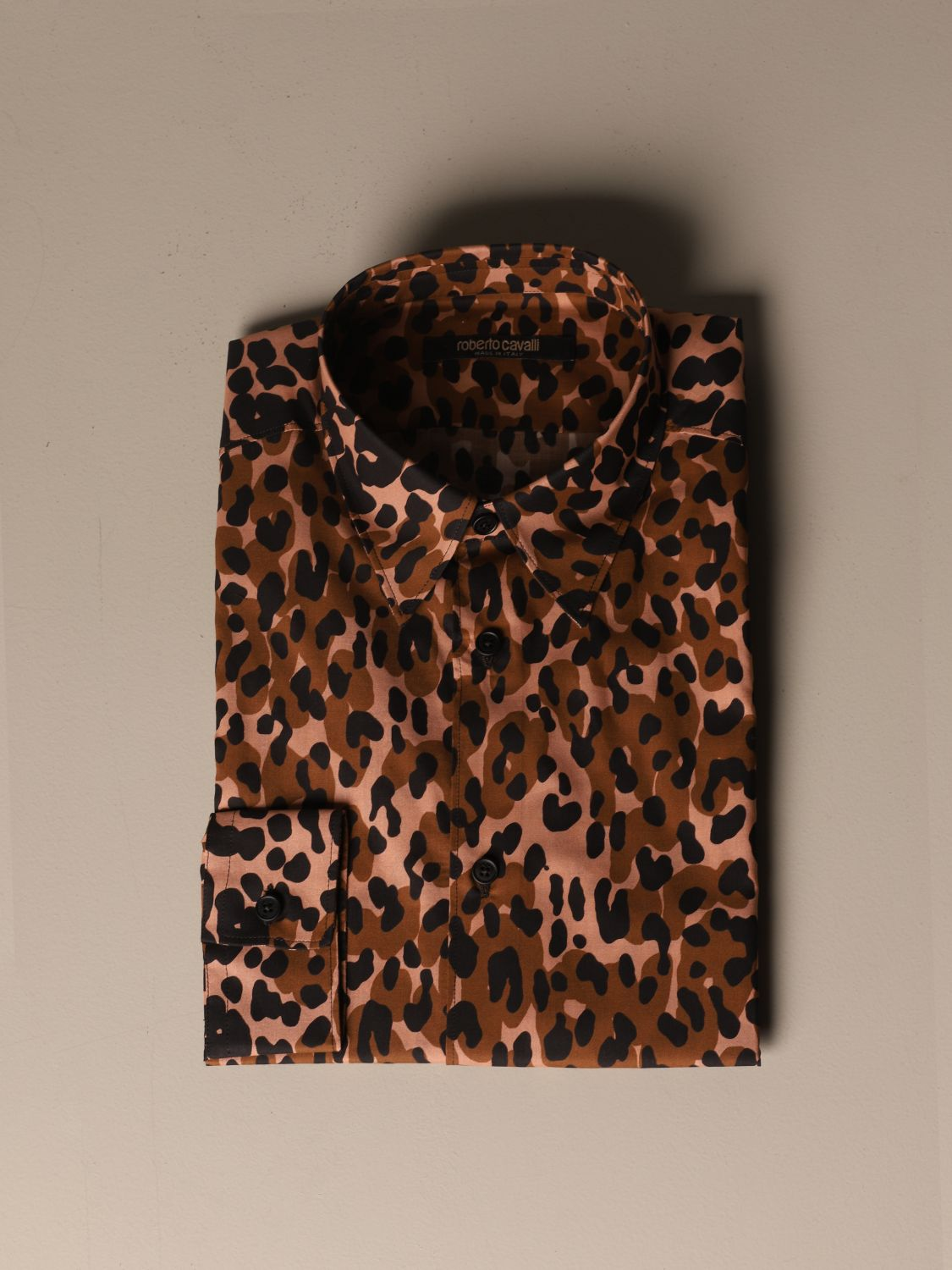 Shirt Roberto Cavalli: Shirt men Roberto Cavalli brown 1