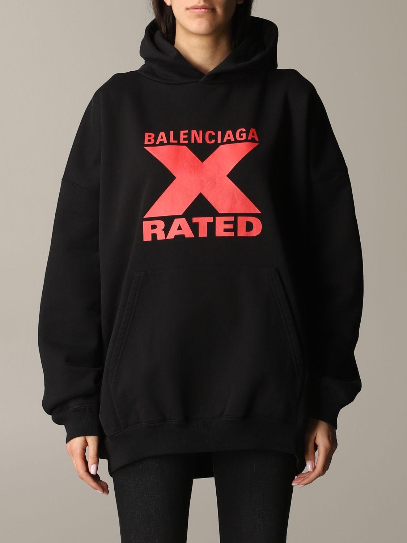 Толстовка Женское Balenciaga черный 1