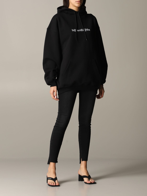 Balenciaga sweatshirt with logo print black 2