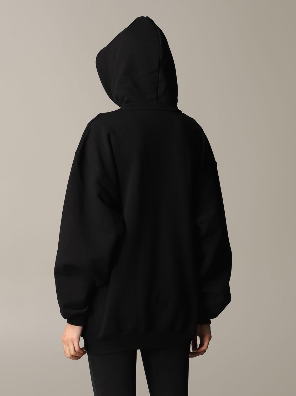 Balenciaga sweatshirt with logo print black 3
