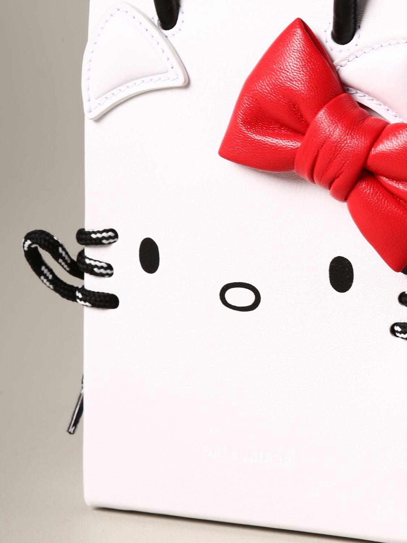 Наплечная сумка Женское Balenciaga белый 4