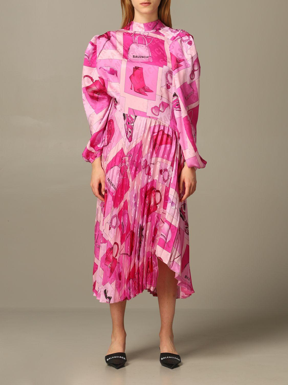 Dress Balenciaga: Dress women Balenciaga pink 1