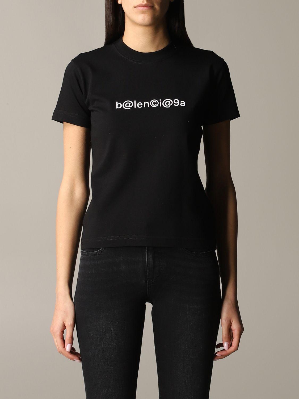 Balenciaga logoT恤 黑色 1