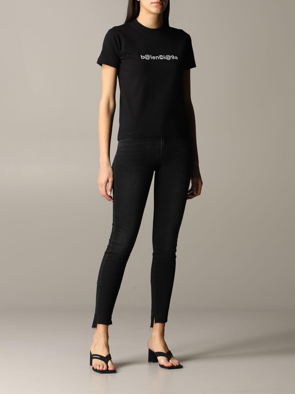 Balenciaga logoT恤 黑色 2
