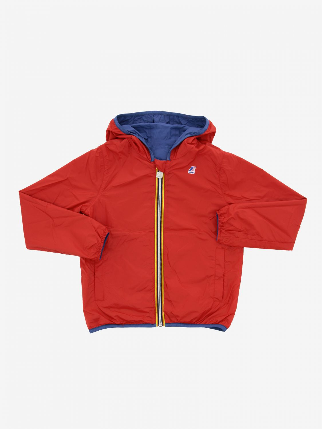 Jacques K-way reversible jacket with hood blue 3
