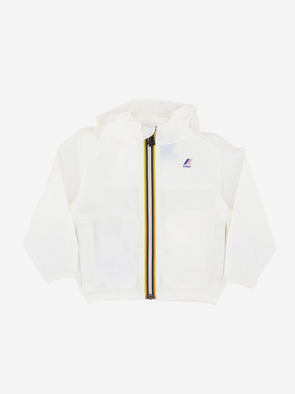 K-way Claudine jacket with hood white 1