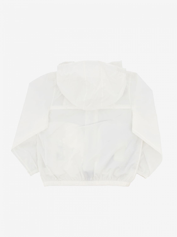 K-way Claudine jacket with hood white 2