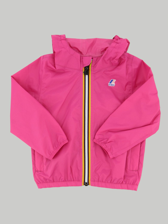 K-way Claudine jacket with hood fuchsia 1