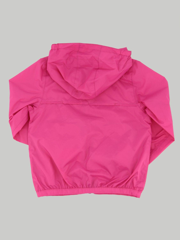 K-way Claudine jacket with hood fuchsia 2