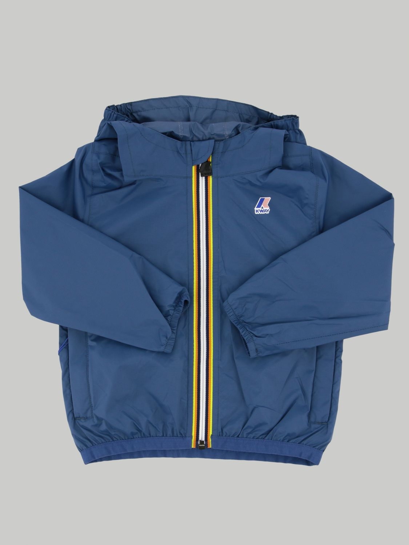 K-way Claudine jacket with hood blue 1 1