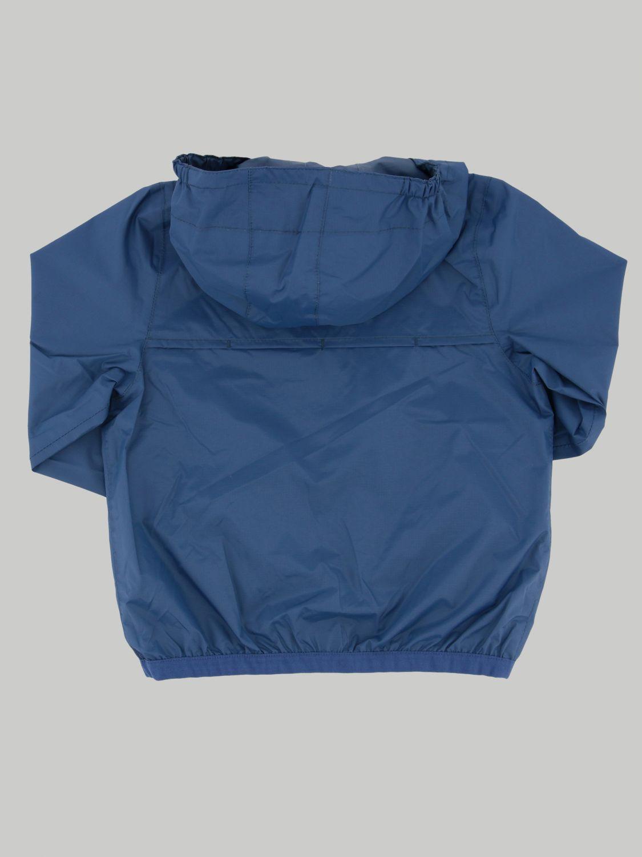 K-way Claudine jacket with hood blue 1 2