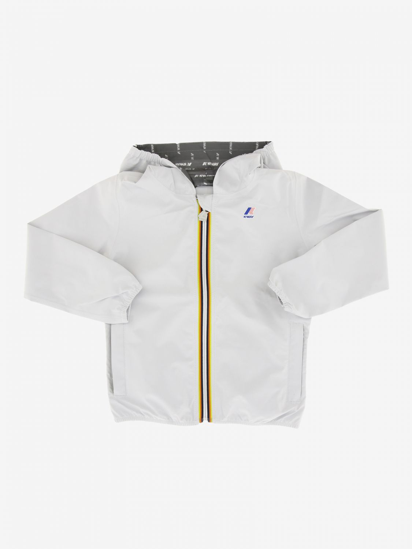 Jacket kids K-way white 1