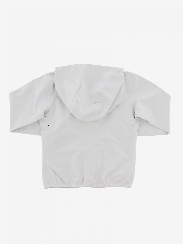 Jacket kids K-way white 2