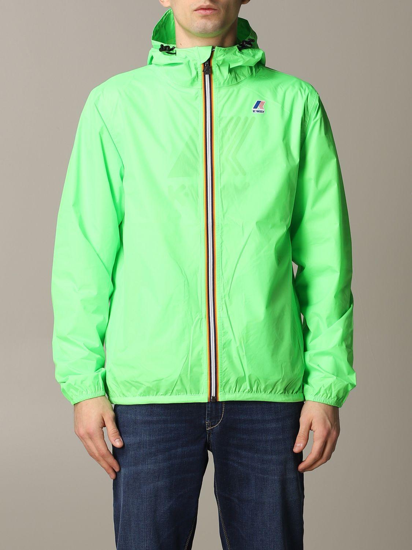Jacket K-Way: Jacket men K-way acid green 1