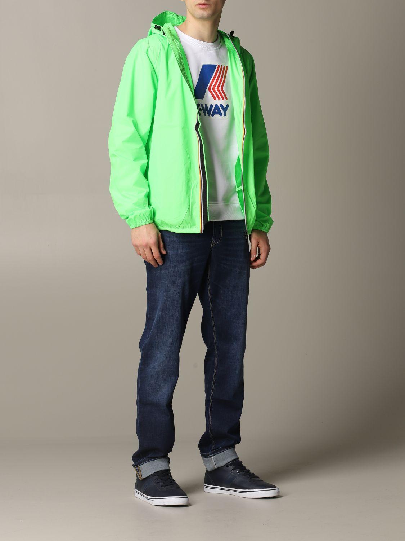 Jacket K-Way: Jacket men K-way acid green 2