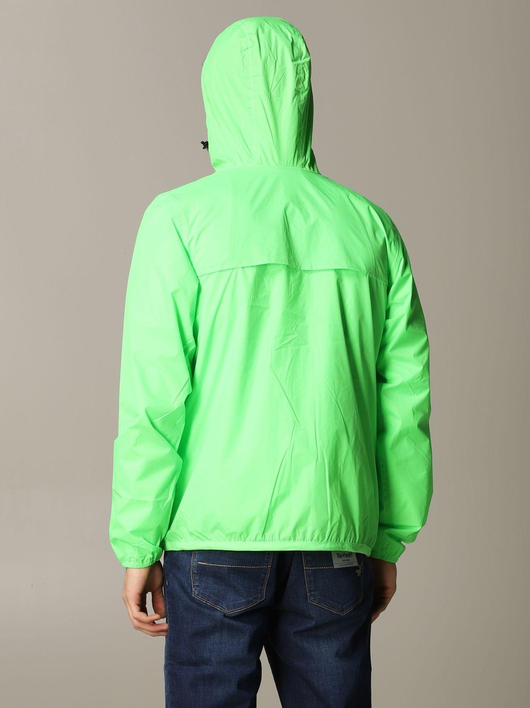 Jacket K-Way: Jacket men K-way acid green 3