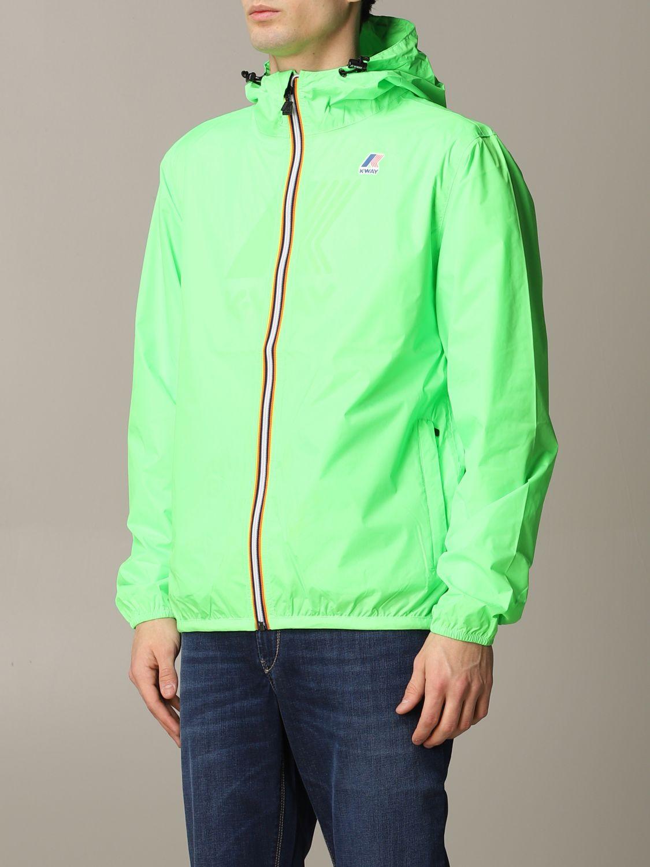 Jacket K-Way: Jacket men K-way acid green 4