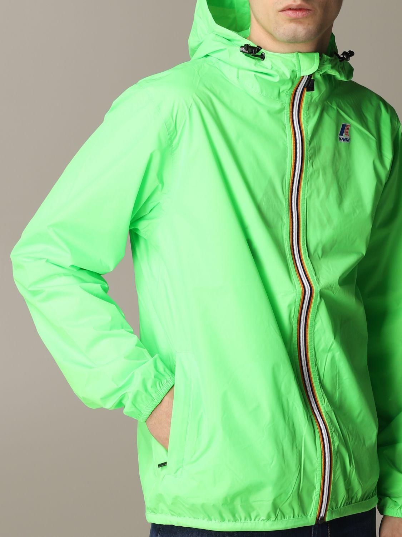 Jacket K-Way: Jacket men K-way acid green 5