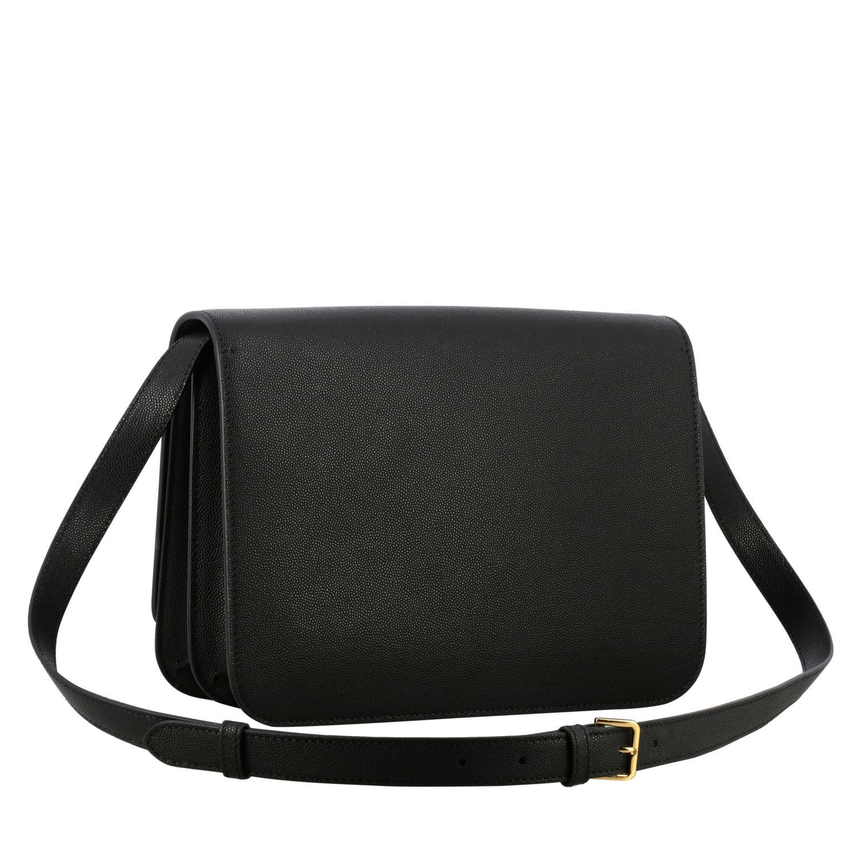 Burberry TB leather bag with monogram black 3