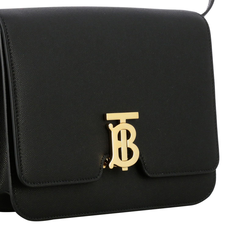 Burberry TB leather bag with monogram black 4