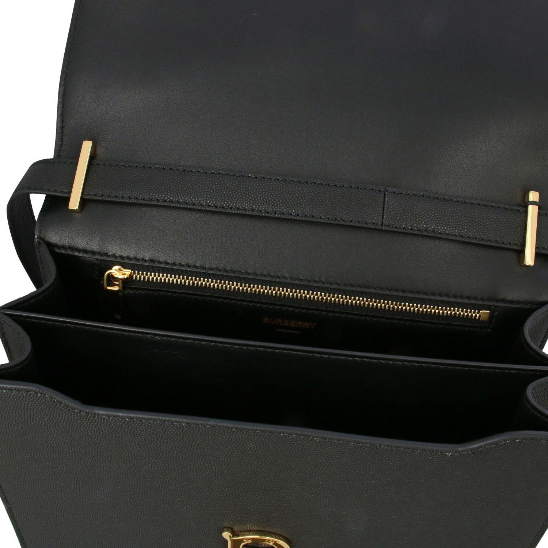 Burberry TB leather bag with monogram black 5