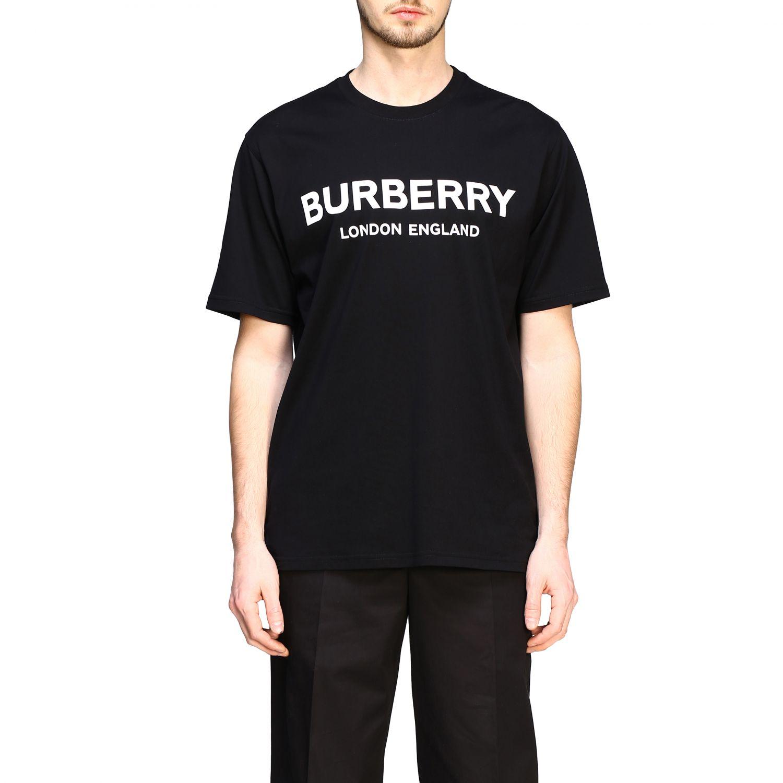 T-shirt Burberry a maniche con logo stampato nero 1