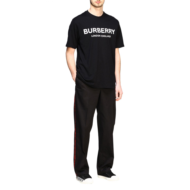 T-shirt Burberry a maniche con logo stampato nero 2