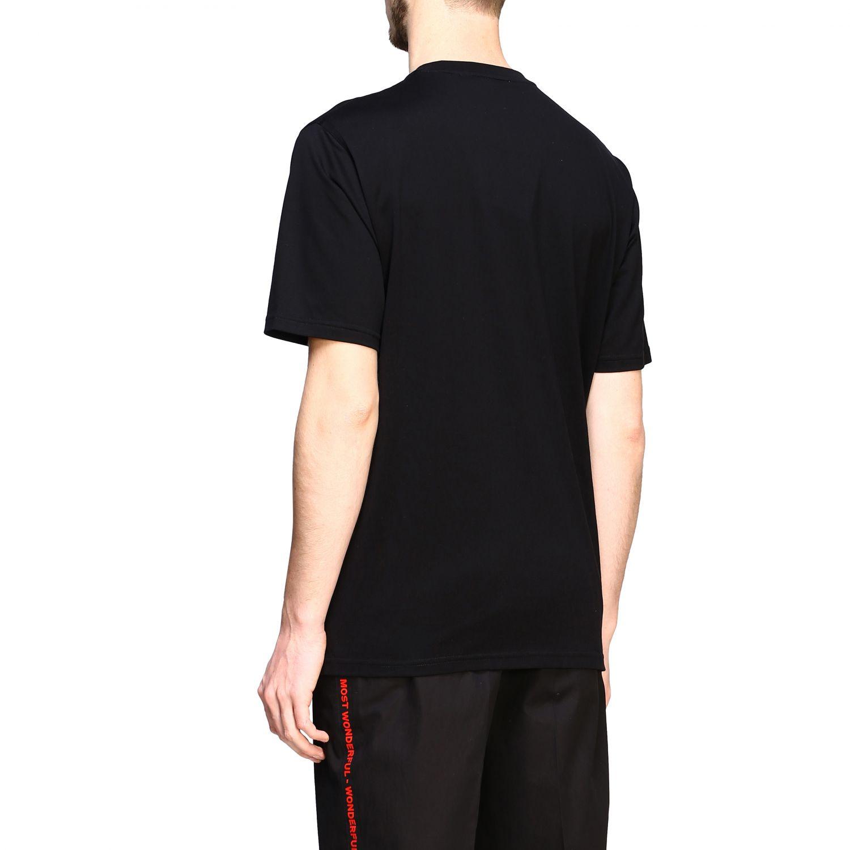 T-shirt Burberry a maniche con logo stampato nero 3