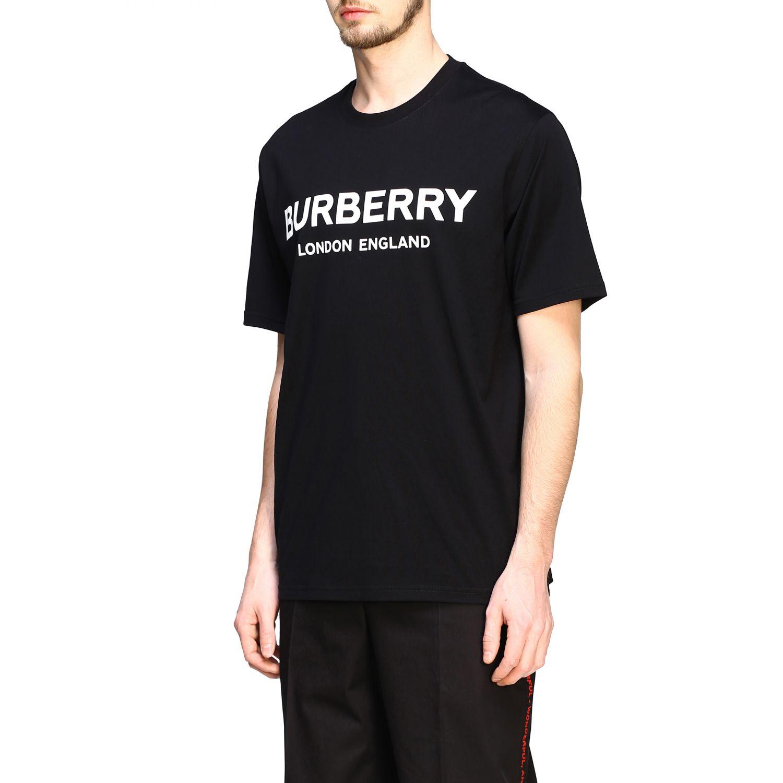 T-shirt Burberry a maniche con logo stampato nero 4