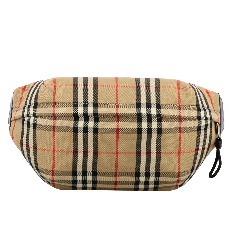 Burberry belt bag in check canvas beige 1