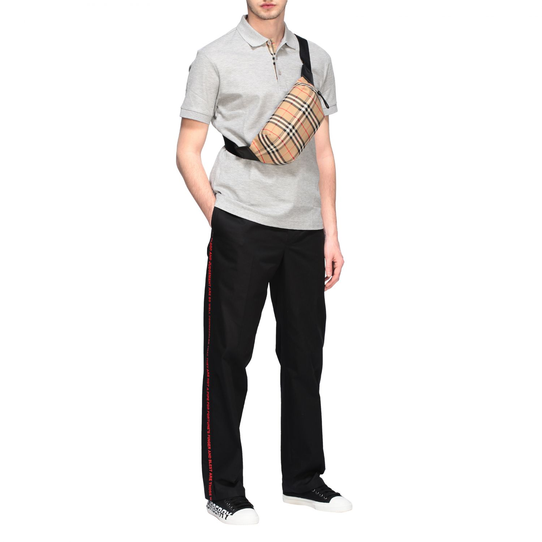 Burberry belt bag in check canvas beige 2