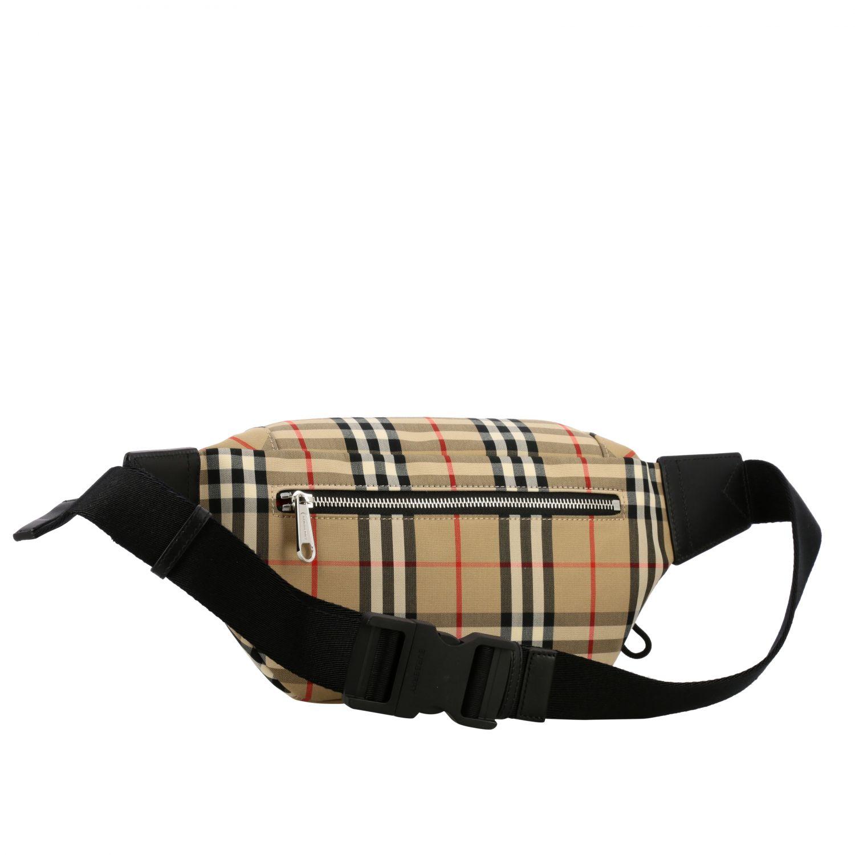 Burberry belt bag in check canvas beige 3
