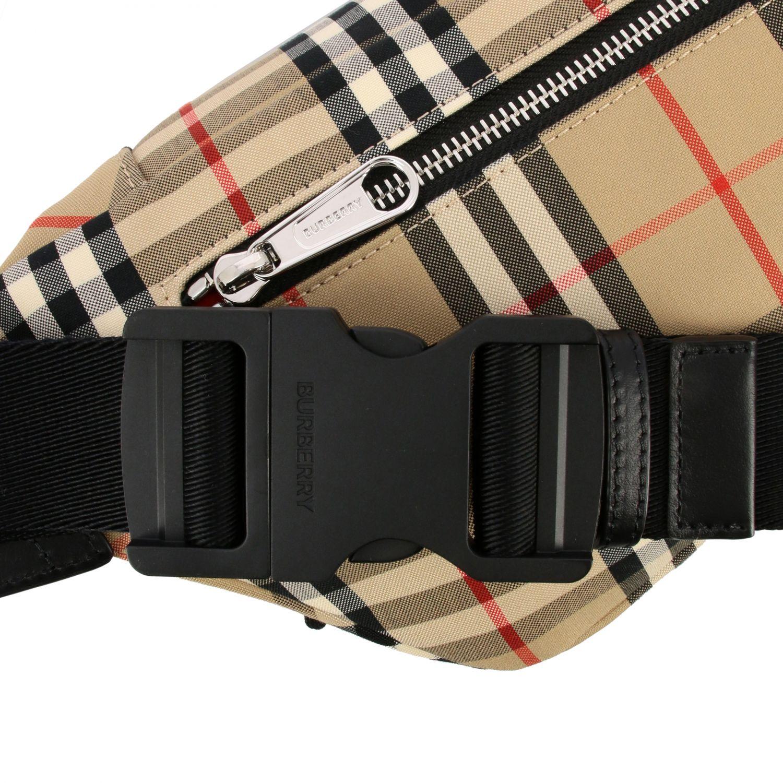 Burberry belt bag in check canvas beige 4