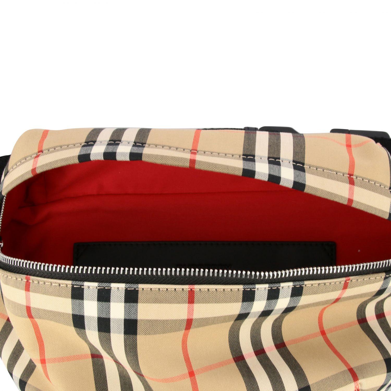 Burberry belt bag in check canvas beige 5
