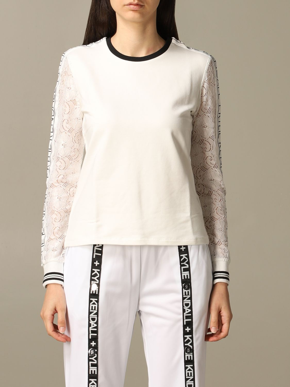 Sweatshirt women Kendall + Kylie white 1